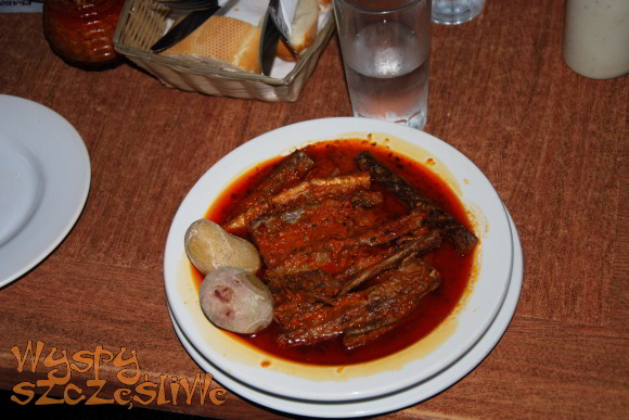 tollos, czyli gulasz z suszonej ryby